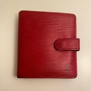 Louis Vuitton Red Epi Bifold